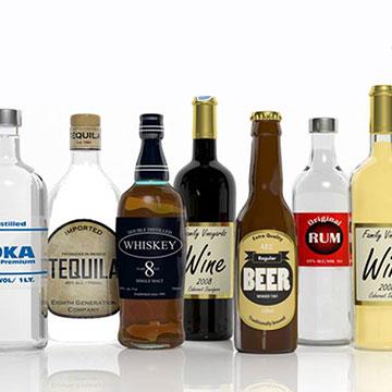 Comerin. Etiquetas adhesivas Sectores. Bebidas