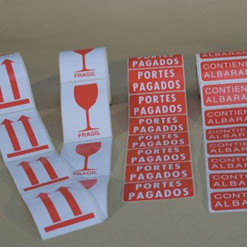 Comerin. Etiquetas adhesivas Sectores. Logística y transporte