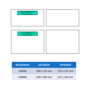 Medidas SOBRES PACKING LIST ECO